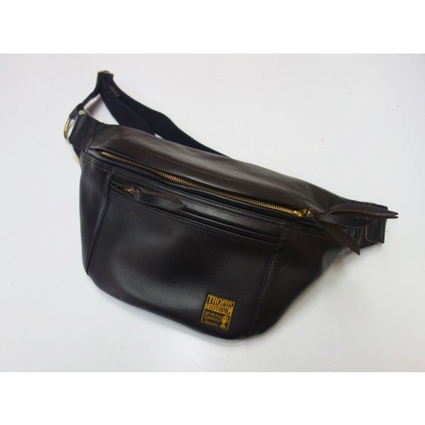TROPHY CLOTHING トロフィークロージング バッグ Horsehide Day Trip Bag BLACK|moveclothing