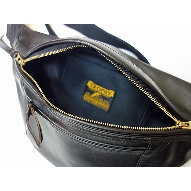 TROPHY CLOTHING トロフィークロージング バッグ Horsehide Day Trip Bag BLACK|moveclothing|03