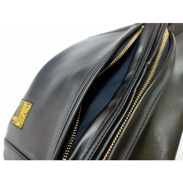 TROPHY CLOTHING トロフィークロージング バッグ Horsehide Day Trip Bag BLACK|moveclothing|05