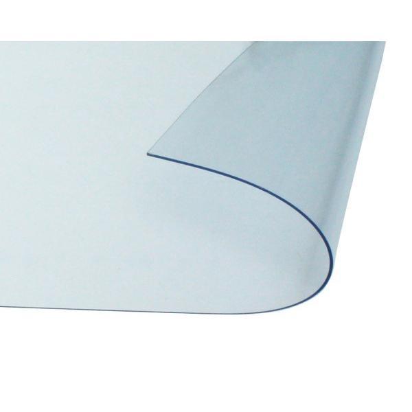 オーダーメイド 屋内向け 防炎、制電 ビニールカーテン 0.3mm厚 製作幅1,810mm〜3,600mm内 製作高さ1,000mm内 透明 糸なし HE-030B-02 納期約2週間