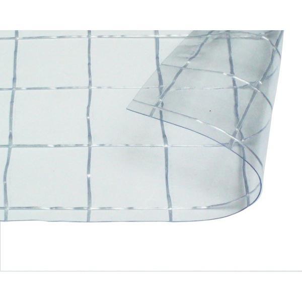 オーダーメイド 屋内向け 耐候 ビニールカーテン 0.3mm厚 製作幅2,010mm〜4,000mm内 製作高さ3,000mm内 透明 糸入り HE-5530W-12 納期約2週間