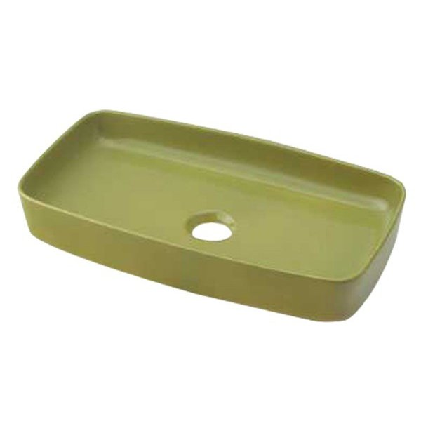 493-073-GR 角型手洗器//ピスタチオ カクダイ