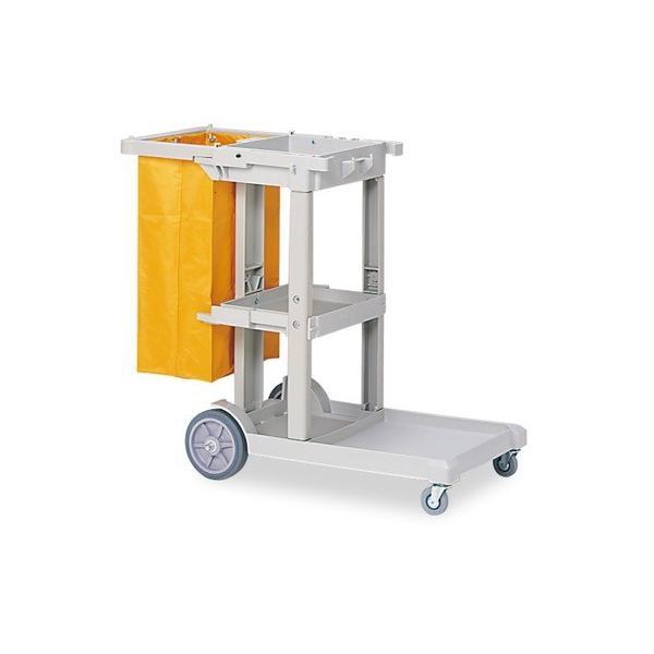 ビルメンカートL ライトグレー サイズ:W550×D1115×H980mm、替袋:約W380×D260×H700mm 重量:約16kg 容量:約70L
