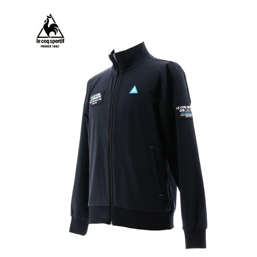 ルコックゴルフ メンズ ジャージーブルゾン ブラック 2019秋冬物 QGMOJL52BK00