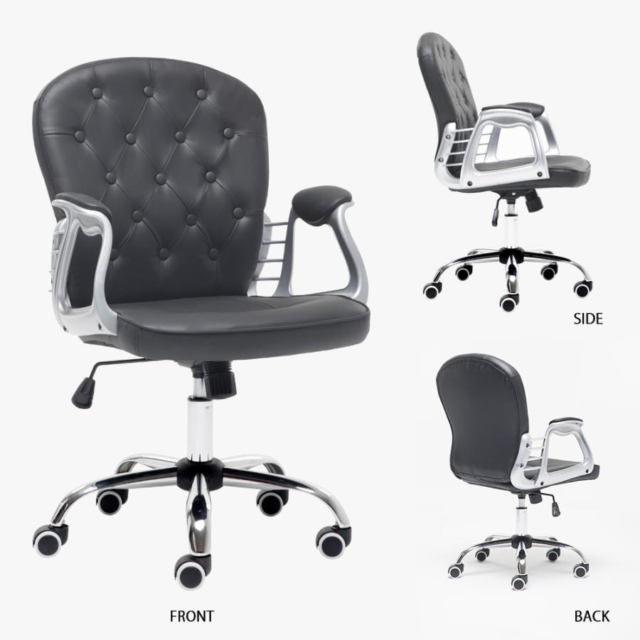 オフィスチェア おしゃれ デスクチェア 北欧  白 キャスター付き 昇降 回転 いす ロッキング機能 椅子 学習椅子 事務椅子 パソコンチェア 勉強椅子 PVCレザー mr-kagu 11