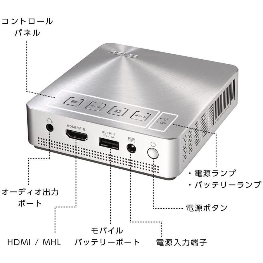 ASUS 小型ミニ プロジェクターS1 ( 軽量342g / 高さ3cm / 200ルーメン / HDMI MHL対応 / 6,000mAh mr-m 09