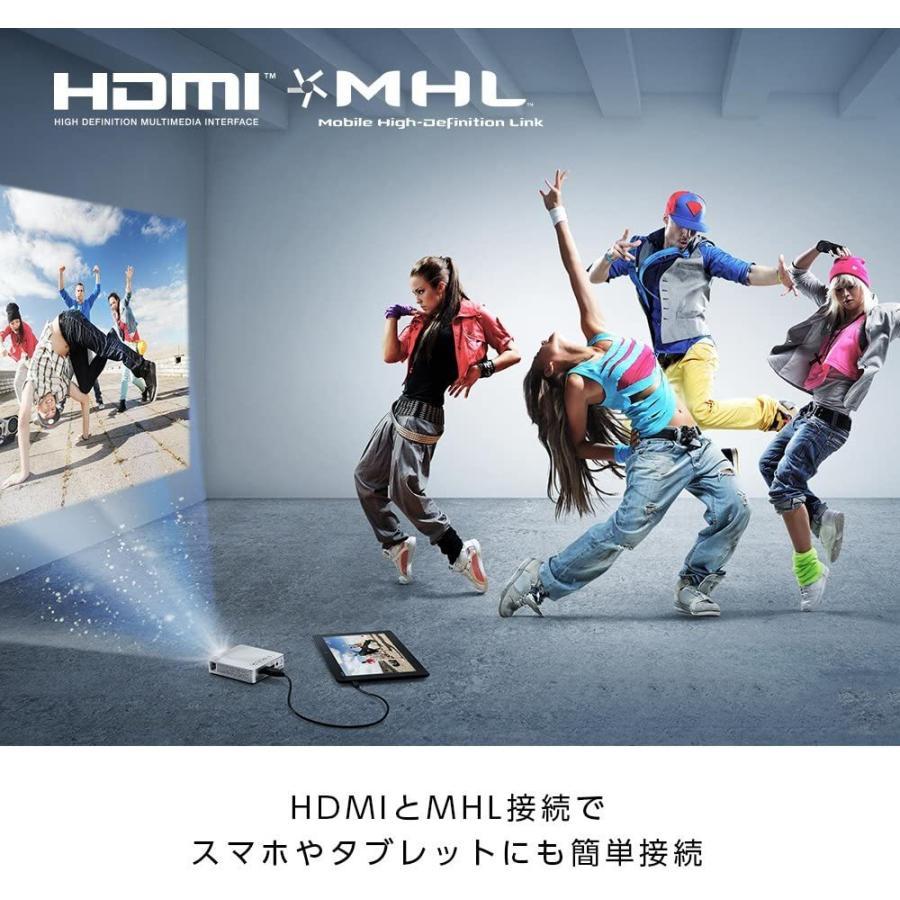 ASUS 小型ミニ プロジェクターS1 ( 軽量342g / 高さ3cm / 200ルーメン / HDMI MHL対応 / 6,000mAh mr-m 10