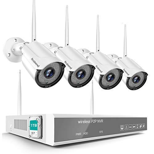 年末特典ワイヤレス防犯カメラセットFirstrend 防犯カメラ 屋外 200万画素 1080P 8チャンネル カメラ増設可 1TBHDD内