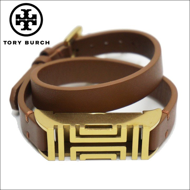【SEAL限定商品】 TORY BURCH トリーバーチ ブレスレット FIT BIT DOUBLE WRAP BRACELET ブラウン BROWN 茶色, ホタカマチ 6595800f