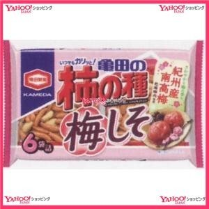 182G 亀田の柿の種梅しそ6袋詰