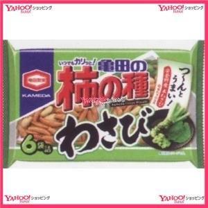 182G 亀田の柿の種わさび6袋詰