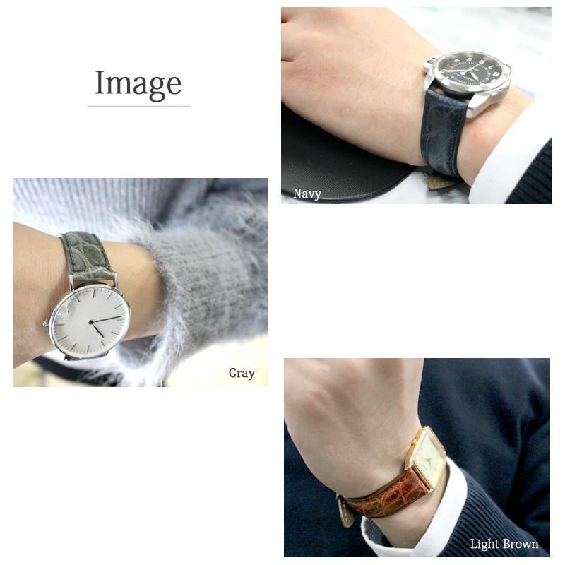 腕時計ベルト 時計ベルト 時計 ベルト 時計バンド 時計 バンド バンビ クロコダイル 玉符 マット ツヤなし BWA021 18mm 19mm 20mm|msg|06