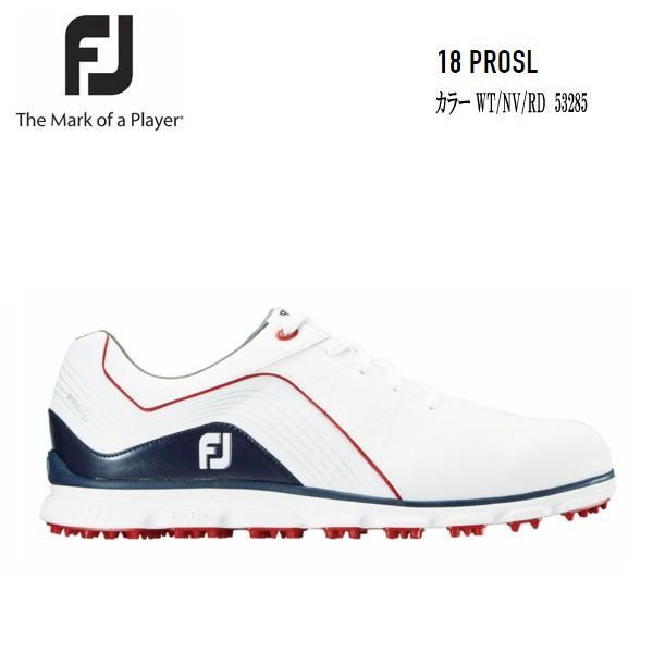 FJ フットジョイ 18 PRO/SL Lace 53285 プロエスエル ホワイト/ネイビー/レッド 日本正規品
