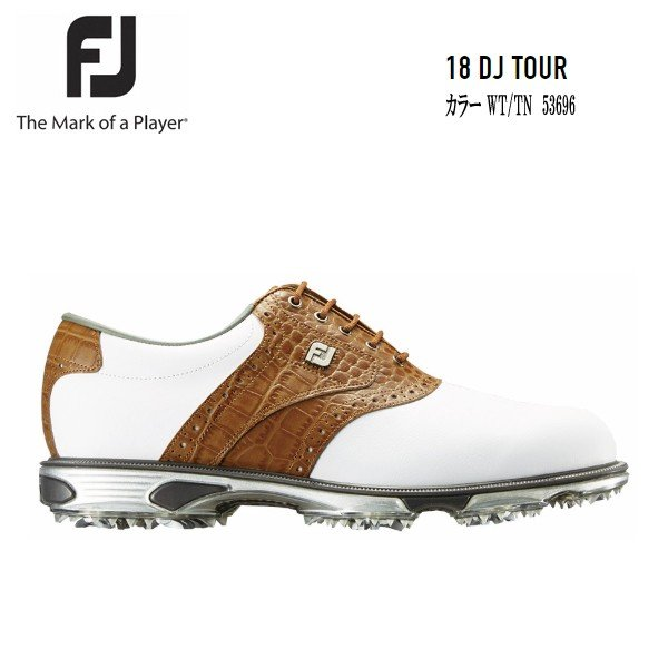 FJ フットジョイ 18DryJoys Tour Boa 53696 ドライジョイツアー ホワイト/タン 日本正規品