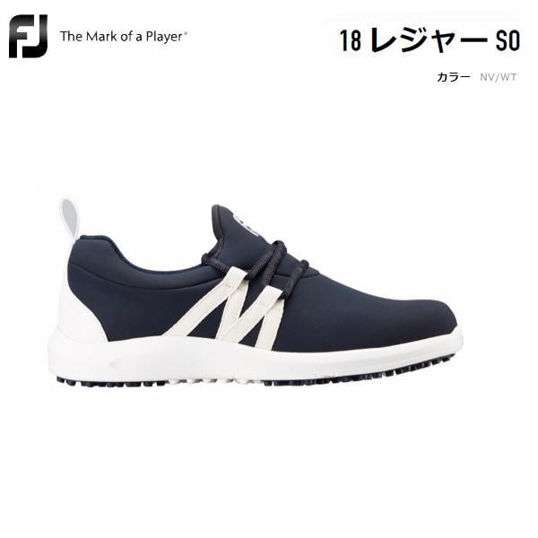 FJ フットジョイ 18 leisure 92911 レディース ネイビー/ホワイト 日本正規品