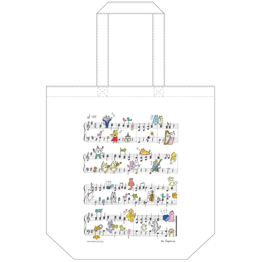 ミュージックストア・ジェイ・ピー特製トートバッグ・ニャンズプレイミュージック1(軽いコットン素材)(アクセサリー   雑貨) msjp