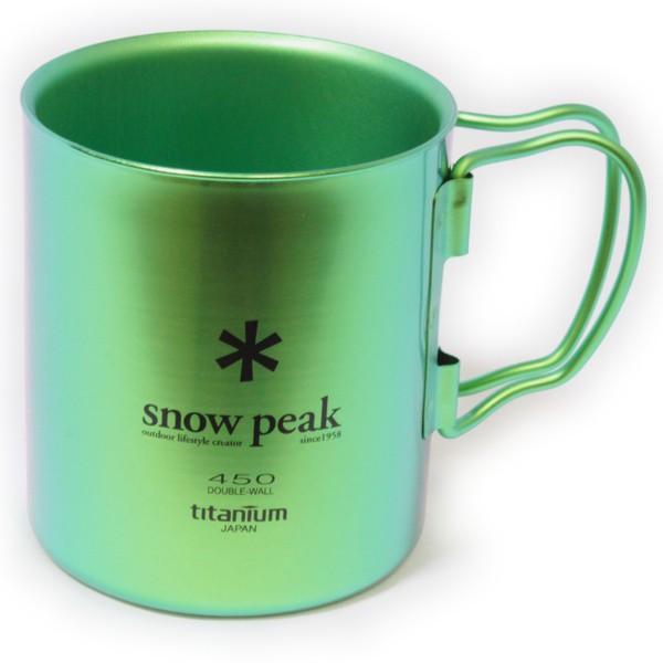 スノーピーク チタン ダブルウォール マグカップ グリーン 新品! SNOW PEAK チタンダブルマグ