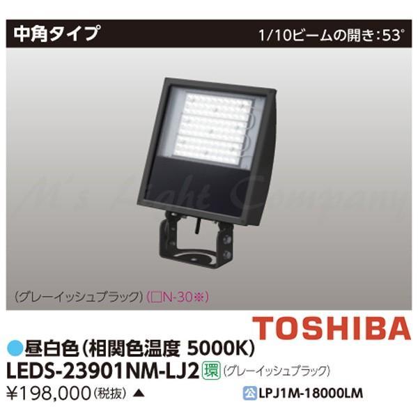 東芝 LEDS-23901NM-LJ2 LED投光器 中角タイプ 700W形水銀ランプ器具相当 昼白色 グレーイッシュブラック 『LEDS23901NMLJ2』