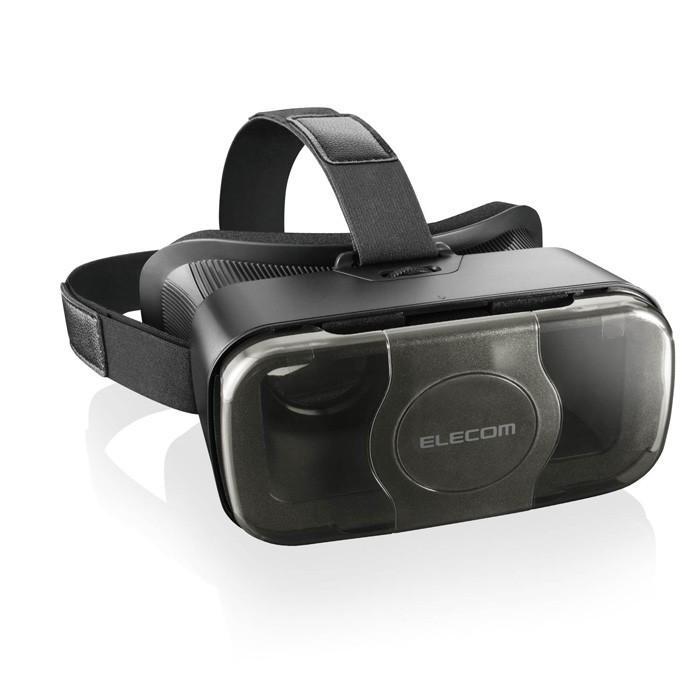 エレコム VRG-S01BK VRゴーグル VRグラス 目幅調節可能 メガネ対応 ブラック msmart