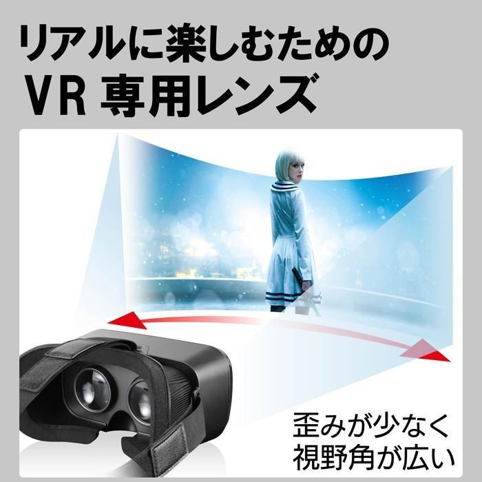 エレコム VRG-S01BK VRゴーグル VRグラス 目幅調節可能 メガネ対応 ブラック msmart 02