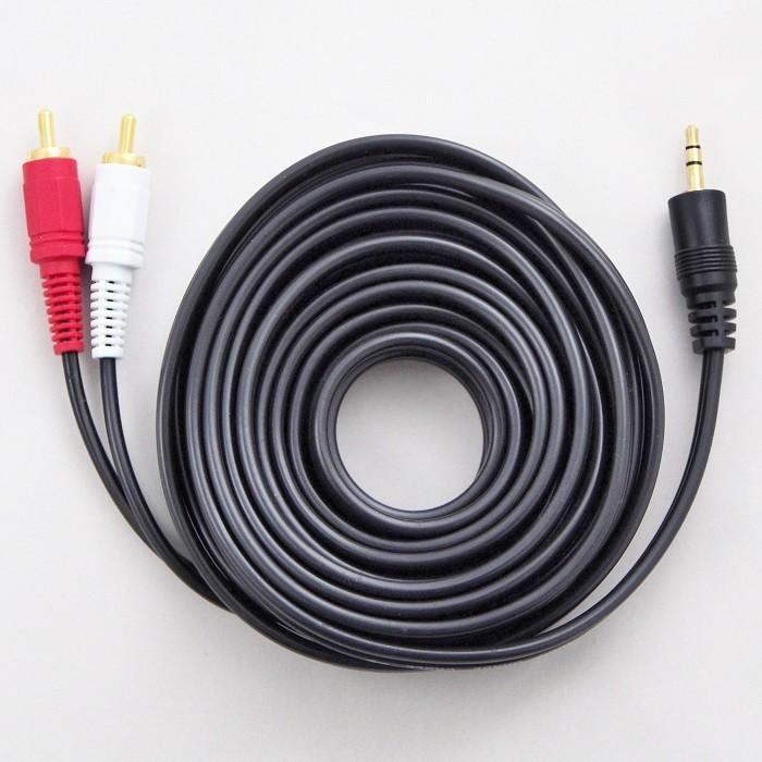 オーディオケーブル 5m ブラック 3タイプ RCAケーブル ステレオケーブル RCAピンプラグ(赤 白・オス) 3.5mm UL.YN|msmart|02