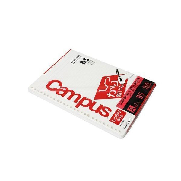 コクヨ ノ-S836A キャンパス ルーズリーフ ( しっかり書ける ) A罫 B5 100枚 商品は1点 ( 個 ) の価格になります。|msmart|02
