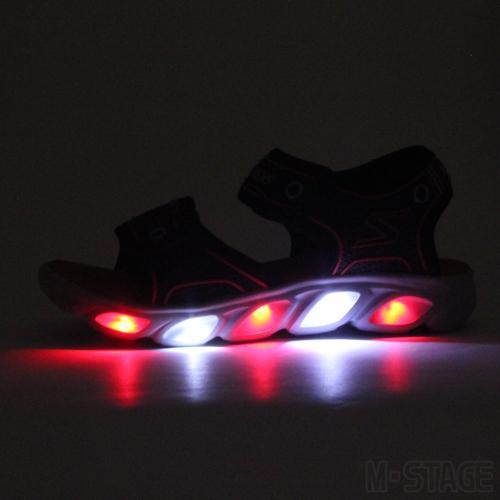 スケッチャーズ 光る靴 サンダル ヒプノ スプラッシュ キッズ ジュニア ベルクロ 男の子 ブラック/レッド SKECHERS HYPNO SPLASH SANDAL 19-22cm|mstage|04