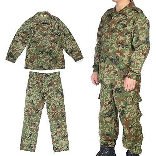 Broptical 【新登場】陸上自衛隊 迷彩 戦闘服3型 ベルト付YKKファスナー付 上下セット Sサイズ ウェストサ