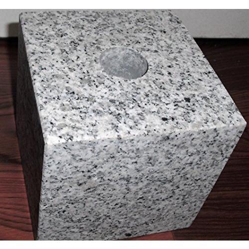 ボウフラ防止銅板加工 ネジ式ステン花立大 御影石 台座付そのまま置いて使用可(設置資材付)一対(二本)|mtmco|04