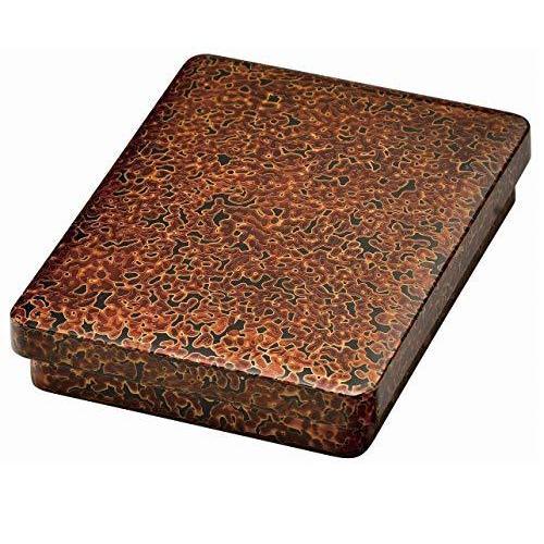 【会津塗】木製 金虫 6.5寸硯箱