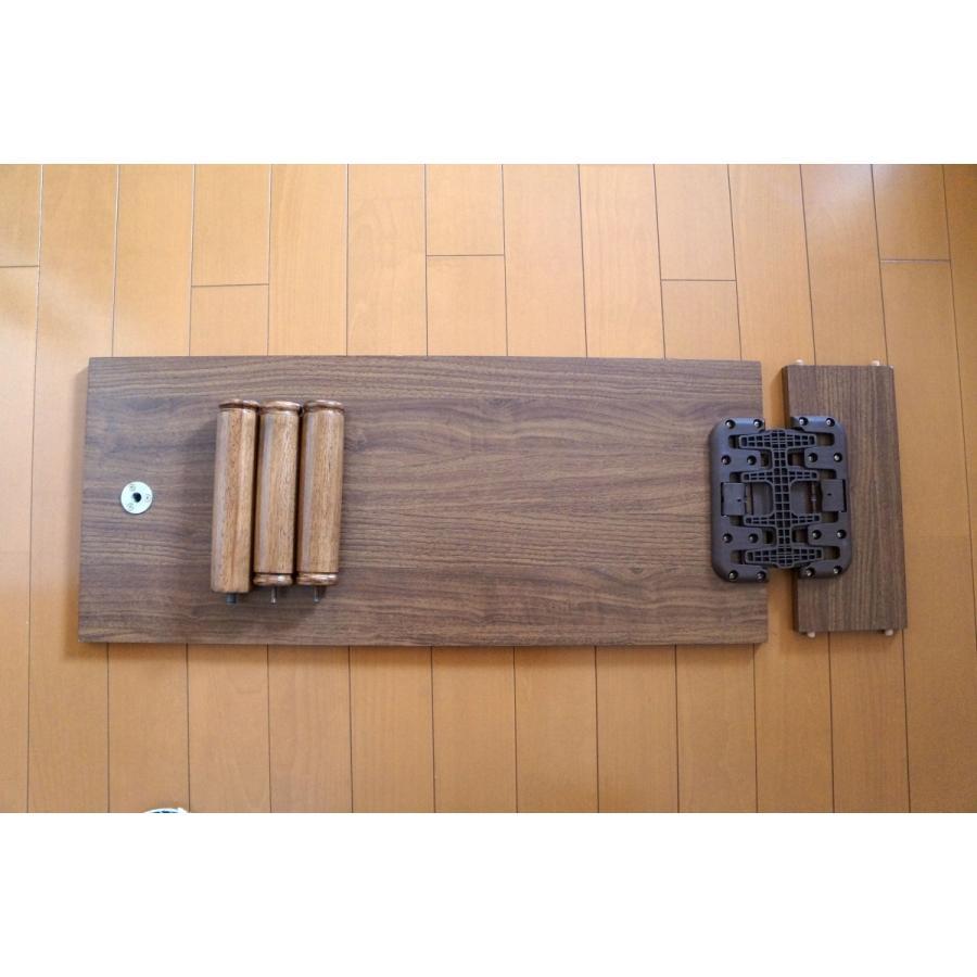 テーブル+ポール脚+棚コネクター1個付セット|mugen-cf|02