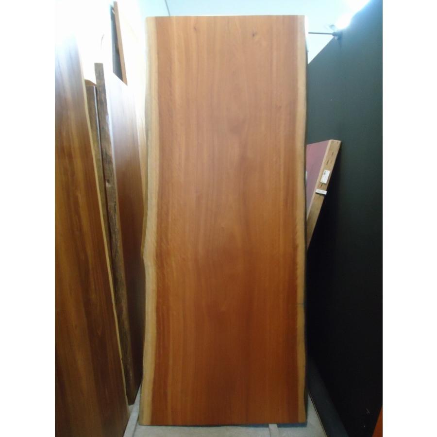 アフリカンチェリー 一枚板 無垢 無垢 テーブル ウレタン塗装絹肌仕上げ 2240×860×70