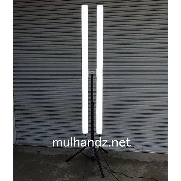 富士倉 LEDベーシックライト×2スタンドセット 50W×2 ポールライト アップライト BL-150ST