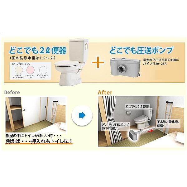 DKB5-NEA14 どこでもトイレ 圧送ポンプでトイレの増設の自由自在 ダイワ化成