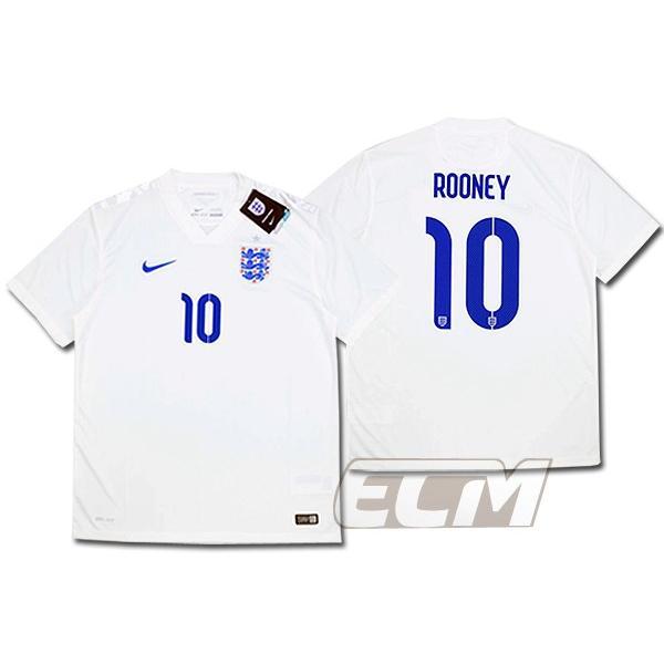 【予約ECM32】イングランド代表 ホーム14-15 半袖 10番 ルーニー【サッカー/England/Roonye/ワールドカップ】