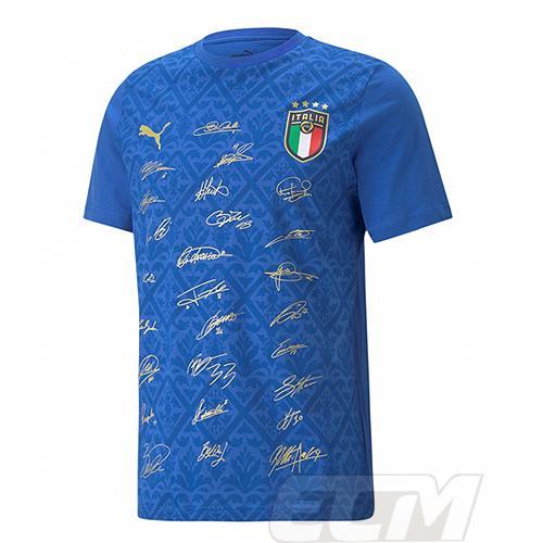 【サッカー イタリア代表】【予約ECM32】【国内未発売】イタリア代表 16-17 トレーニング半袖シャツ ネイビー ネコポス対応可能