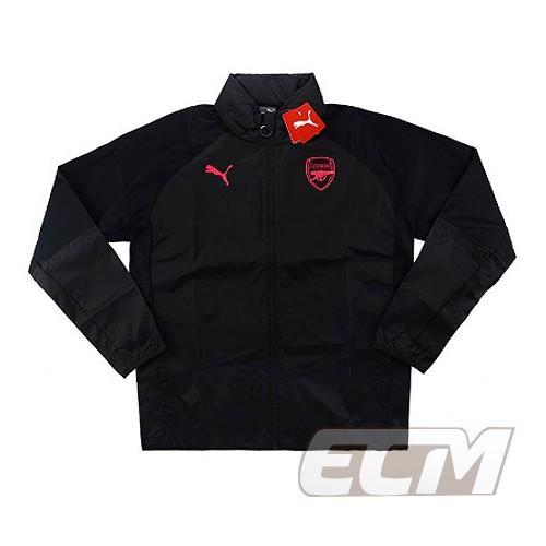 【予約ECM32】【国内未発売】アーセナル レインジャケット ブラック【17-18/Arsenal/サッカー/プレミアリーグ/トレーニングウェア】330