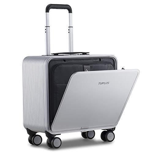 アルミフレーム スーツケース キャリーケース 機内持ち込み 超軽量 TSAロック付 8輪 静音 (シルバー 30L 42cm 4.1kg)