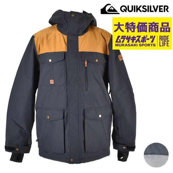 SALE セール スノーボード ウェア ジャケット 型落ち QUIK銀 クイックシルバー EQYTJ03188 18-19モデル メンズ G1 F24