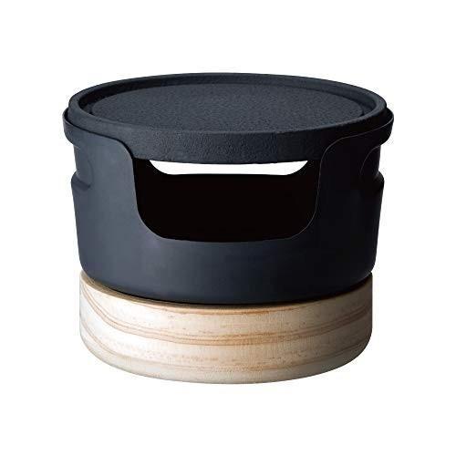 ドウシシャ 鉄焼プレート じゅーじゅー厚焼き 10cm 固形燃料 ブラック レシピ付き LivE|murashop|02