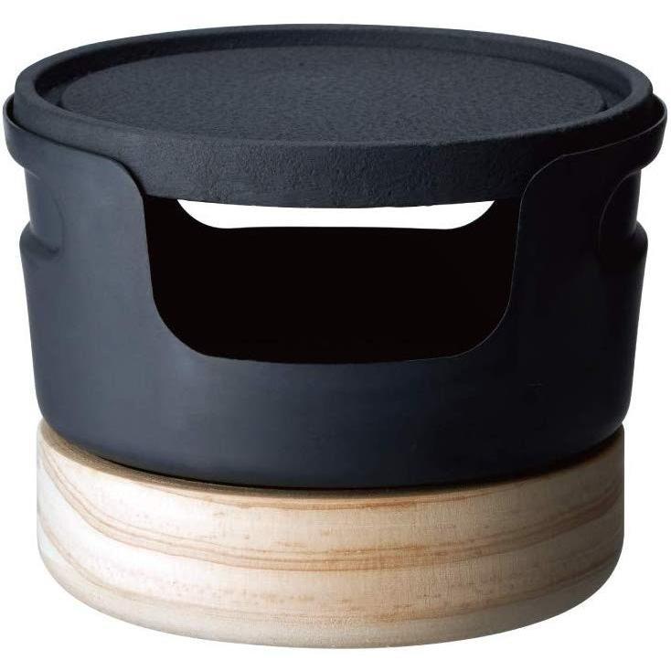 ドウシシャ 鉄焼プレート じゅーじゅー厚焼き 10cm 固形燃料 ブラック レシピ付き LivE|murashop|03