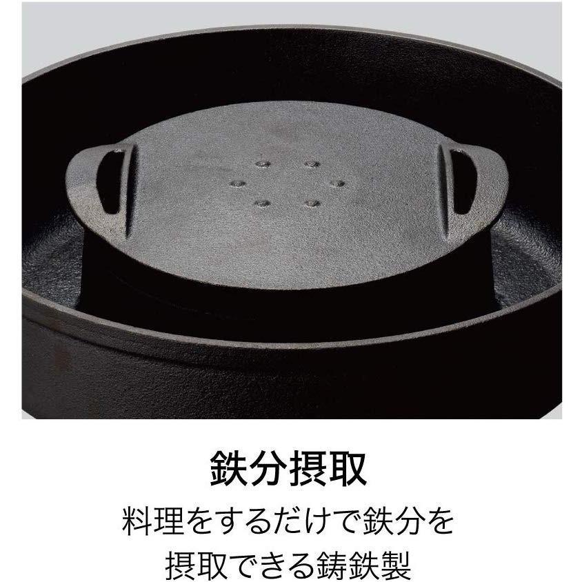 ドウシシャ すき焼き鍋 28cm ガス火専用 レシピ付き ブラック 焼きすき鍋 LivE|murashop|03