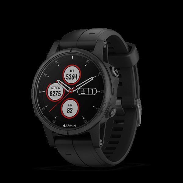 GARMIN(ガーミン) fenix 5S Plus Sapphire 黒 GPS 腕時計 日本正規品 010-01987-77