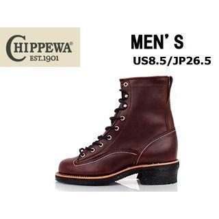 CHIPPEWA/チペワ ★★★メンズ 8インチ(高さ) 8インチレーストゥトゥロガー ブーツ US8.5/JP26.5 (CHOCOLATE CHROME )