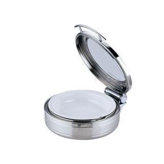 Sampo/三宝産業 丸チェーフィング 小/J305−Tガラス蓋・陶器中皿