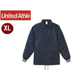UnitedAthle/ユナイテッドアスレ コーチ ジャケット(ボア裏地) 【XL】 (ブラック×ホワイト)