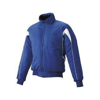 SSK/エスエスケイ BWG1006J-6310 ジュニア・グラウンドコート・フロントフルZIP・中綿 【160】 (Dブルー×ホワイト)