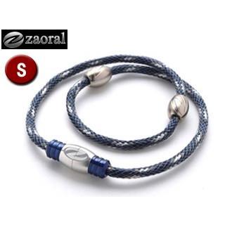 zaoral/ザオラル N13314 リカバリーネックレス 【Sサイズ:43cm】 (ネイビー/シルバー)