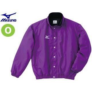 mizuno/ミズノ A60JF962-68 フード収納式 中綿ウォーマーキルトシャツ (パープル) 【Oサイズ】