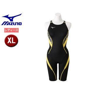mizuno/ミズノ N2MG8742-94 ストリームアクティバ ハーフスーツ オープン レディース 【XL】 (ブラック×イエロー)